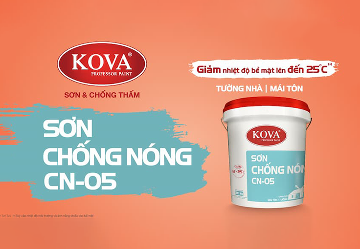 Bảng giá Sơn Chống Nóng KOVA CN-05 chính hãng