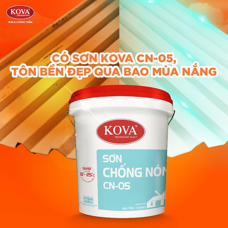 Sơn Chống Nóng KOVA CN-05, lựa chọn hoàn hảo cho mái tôn