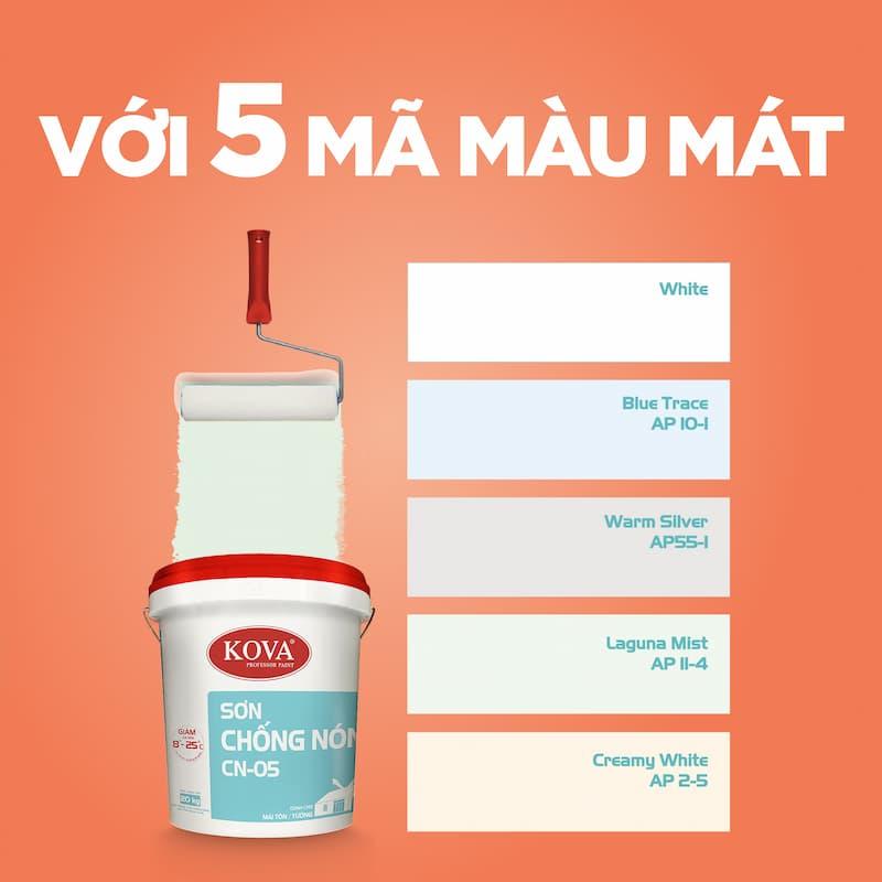 5 mã màu mát của sơn chống nóng KOVA CN-05
